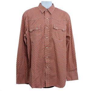 Roper Mens Pearl Snap Western Cowboy Shirt L